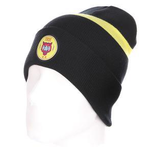 Шапка  Tiger Classic Beanie Navy/Yellow TrueSpin. Цвет: черный,желтый