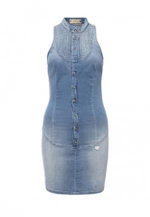 Платье джинсовое Met. Цвет: голубой