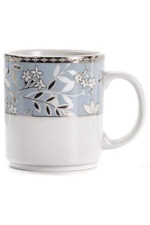 Кружка CLASSE 300 мл La Rose des Sables. Цвет: белый, серебряный, голубой