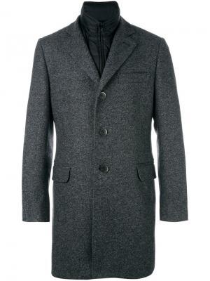 Многослойное пальто Fay. Цвет: серый