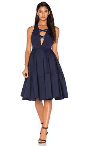 Платье миди nikita Bronx and Banco. Цвет: синий
