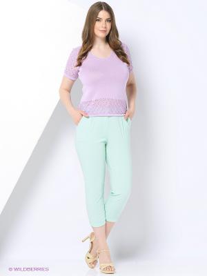 Капри Milana Style. Цвет: светло-голубой