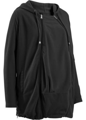 Мода для беременных: флисовая куртка со вставкой малыша (темно-красный) bonprix. Цвет: темно-красный