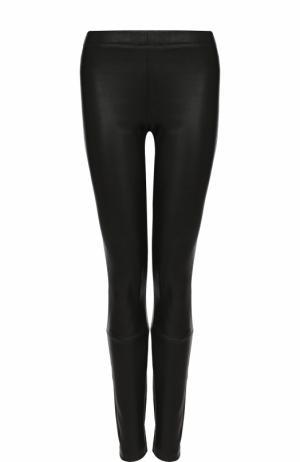 Однотонные кожаные брюки-скинни Haider Ackermann. Цвет: черный