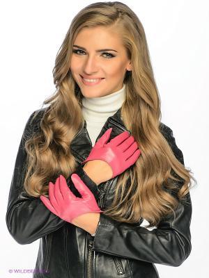 Перчатки MICHEL KATANA`. Цвет: малиновый
