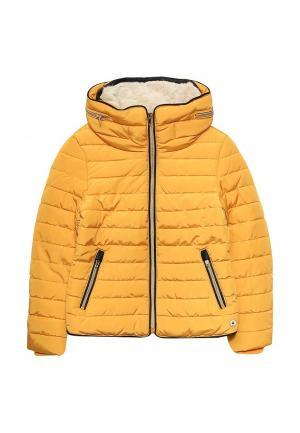 Куртка утепленная Tom Tailor. Цвет: желтый