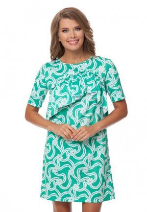 Платье Gloss. Цвет: бирюзовый