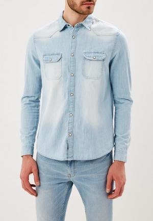 Рубашка джинсовая Burton Menswear London. Цвет: голубой
