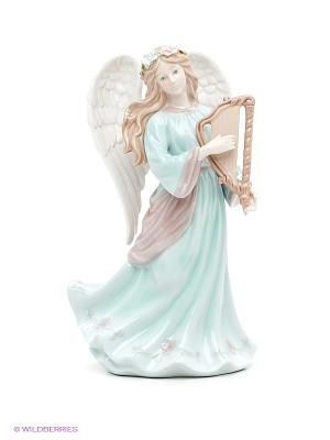 Музыкальная статуэтка Ангел с арфой Pavone. Цвет: зеленый