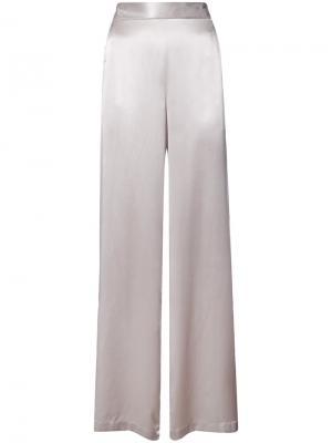 Широкие брюки Fleur Du Mal. Цвет: серый