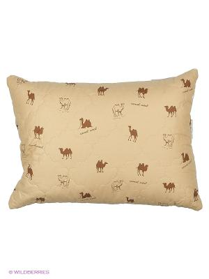 Подушка стеганая 50*70 Верблюд BegAl. Цвет: светло-коричневый