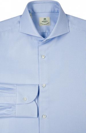 Сорочка Luigi Borrelli. Цвет: голубой