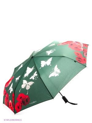 Зонт Flioraj. Цвет: зеленый, красный