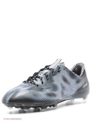 Бутсы F50 adizero FG Adidas. Цвет: серо-голубой, черный