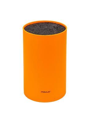 Подставка для ножей универсальная, пластиковая, оранжевая, L-18 sm,D-11 sm MOULINvilla. Цвет: оранжевый