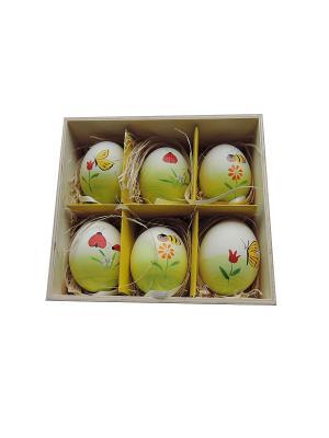 Декоративное подвесное пасхальное яйцо ПЧЕЛКИ Magic Home. Цвет: белый