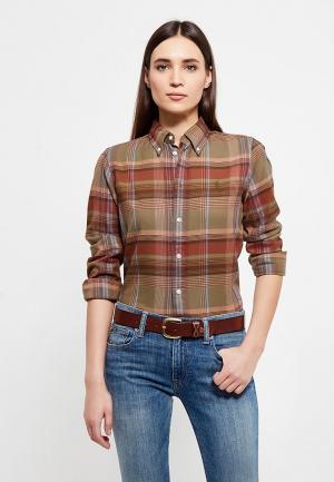 Рубашка Polo Ralph Lauren. Цвет: коричневый