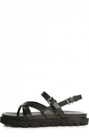 Кожаные сандалии O.X.S.. Цвет: черный