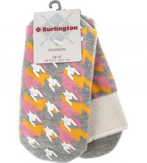 Носки с высоким содержанием шерсти Burlington. Цвет: серый