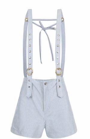 Мини-шорты в полоску с подтяжками Kenzo. Цвет: голубой