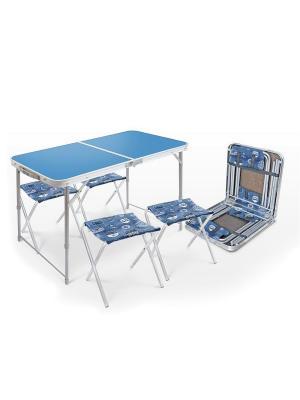 Набор кемпинговой мебели Nika. Цвет: голубой