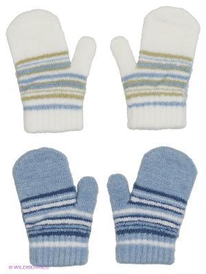 Варежки FOMAS. Цвет: голубой, белый, синий, оливковый