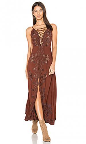 Платье миди annie Cleobella. Цвет: коричневый