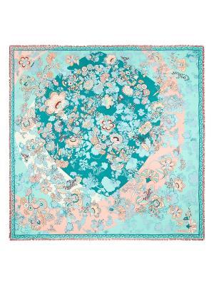 Платок Eleganzza. Цвет: бирюзовый, бледно-розовый, молочный
