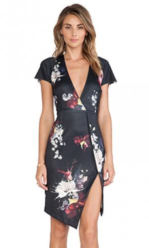Платье с рукавами-фонариками Ringuet. Цвет: черный