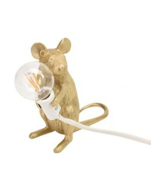 Настольная лампа SELETTI. Цвет: золотистый