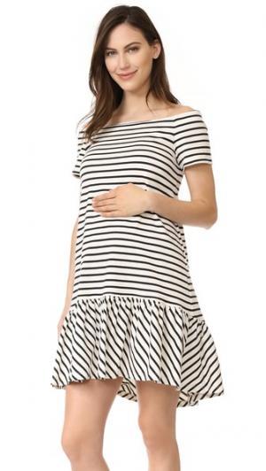 Платье Harbour HATCH. Цвет: черный/белая полоска