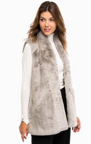 Серый утепленный жилет с карманами Liu Jo. Цвет: серый
