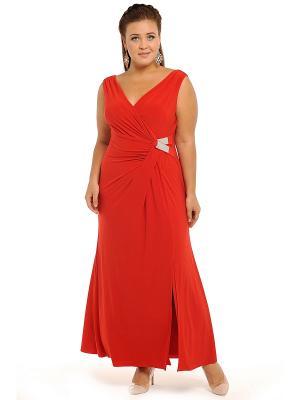 Платье, кардиган SVESTA. Цвет: красный