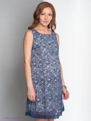 Платье Gemko. Цвет: синий, белый