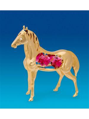 Фигурка Лошадь с цв.кр. Юнион. Цвет: золотистый