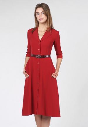 Платье OKS by Oksana Demchenko. Цвет: красный