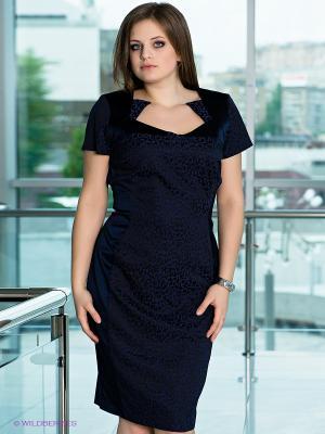 Платье VERDA. Цвет: синий