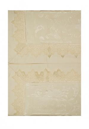 Комплект постельного белья Евро Asabella. Цвет: золотой