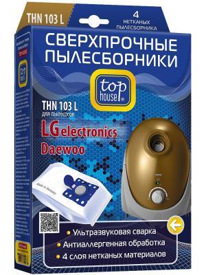 Top house THN 103 L Сверхпрочные нетканые пылесборники 4 шт. Цвет: синий