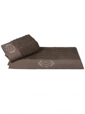 Махровое полотенце 70x140 ZAFIRA коричневое,100% хлопок HOBBY HOME COLLECTION. Цвет: коричневый