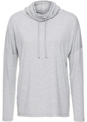 Спортивная футболка с длинным рукавом (светло-серый меланж) bonprix. Цвет: светло-серый меланж