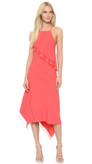 Платье-комбинация Cady с оборками Jason Wu. Цвет: ягода