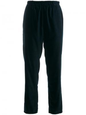 Укороченные брюки с завышенной талией Dusan. Цвет: синий