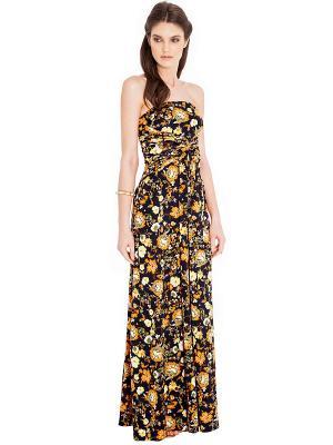 Платье Goddess London. Цвет: темно-синий, желтый