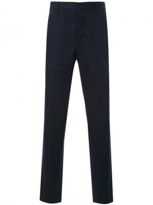 Классические брюки Lemaire. Цвет: синий
