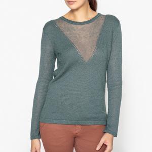 Пуловер из трикотажа ABELIA SESSUN. Цвет: синий