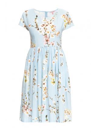 Платье из вискозы с шелком 163242 Anna Verdi. Цвет: синий