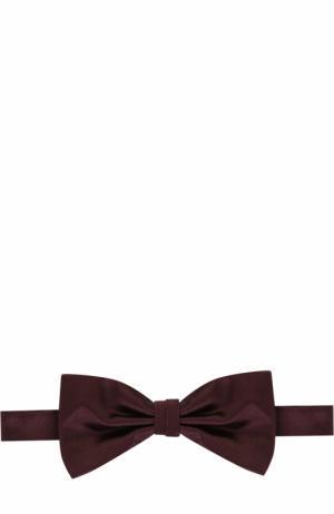 Шелковый галстук-бабочка Canali. Цвет: бордовый