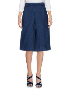 Джинсовая юбка FOLK. Цвет: синий