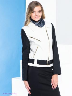 Куртка Say. Цвет: белый, черный